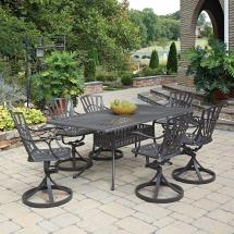 Home Styles Largo Taupe 7-piece -weather Patio Dining