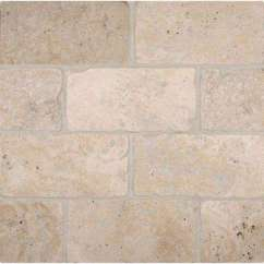 Travertine Kitchen Backsplash Ideas For Cabinets 3x6 Tile Natural Stone The Home Depot Tumbled Floor And Wall