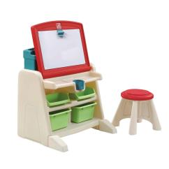 Step 2 Chair Lift London Step2 Flip And Doodle Easel Desk With Stool 836500 The Home Depot