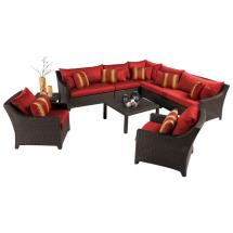 Rst Brands Deco 9-piece Patio Sectional Seating Set With