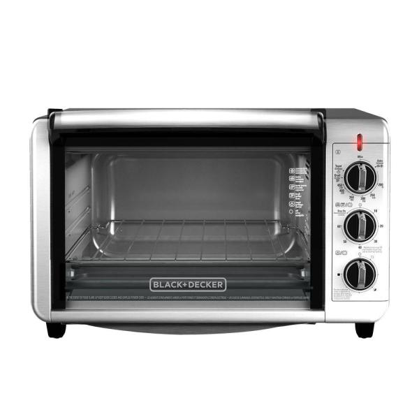 Black Decker 6-slice Silver Toaster Oven-to3230sbd - Home Depot