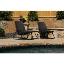 Keter Rio Brown 3-piece Weather Patio Seating Set