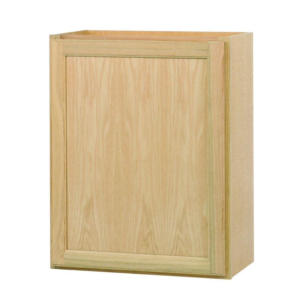 Assembled 24x30x12 In Wall Kitchen Cabinet In Unfinished Oak