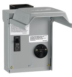 ge 30 amp temporary rv power outlet with breaker [ 1000 x 1000 Pixel ]