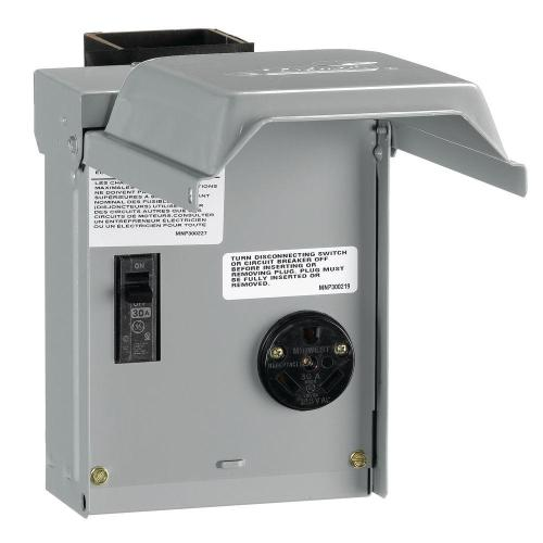 small resolution of ge 30 amp temporary rv power outlet with breaker
