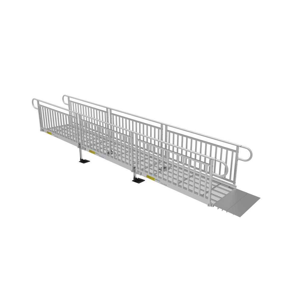 EZ-ACCESS 18 ft. Expanded Metal Ramp Kit with Vertical