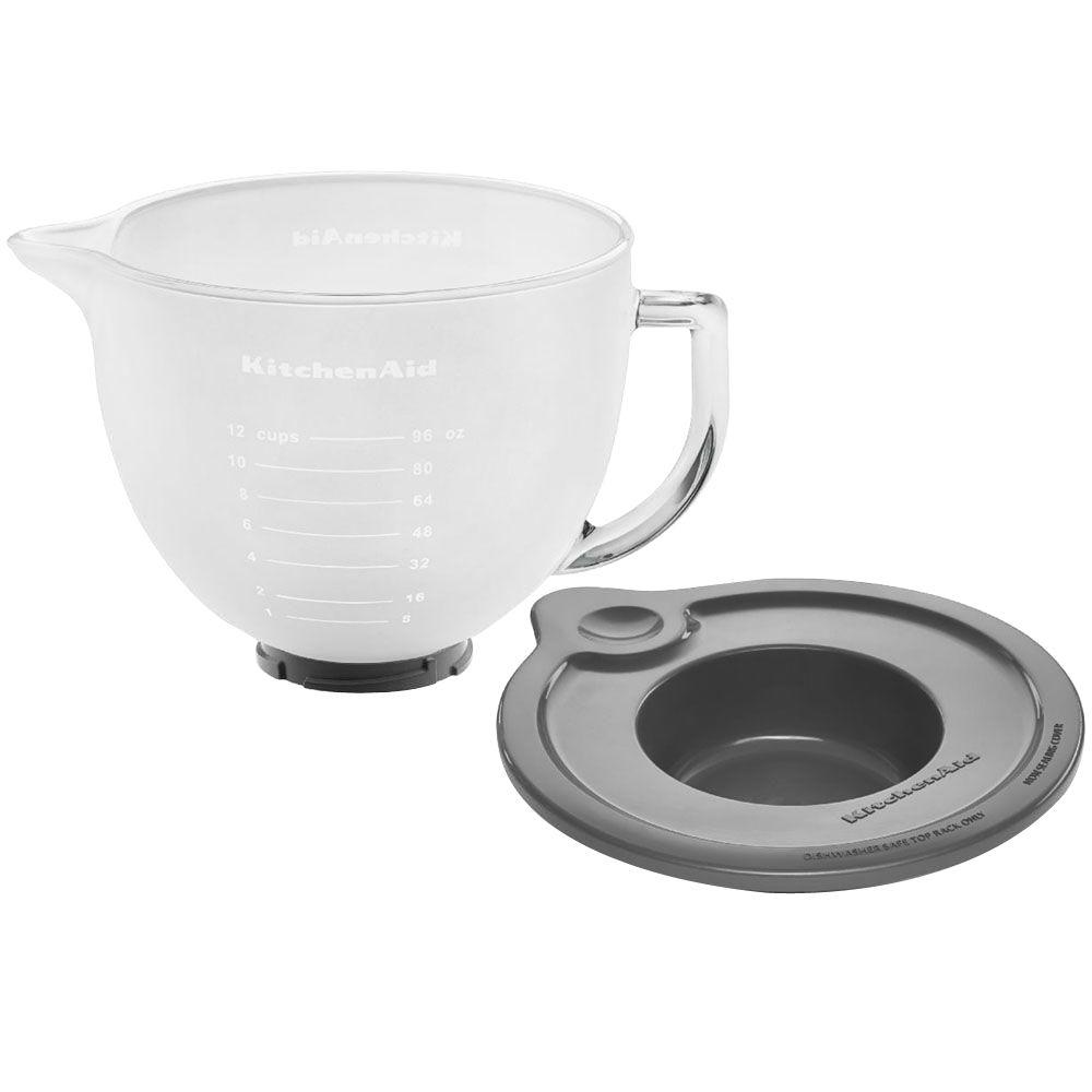 kitchen aid glass bowl commercial flooring options kitchenaid 5 qt frosted for tilt head stand mixers k5gbf