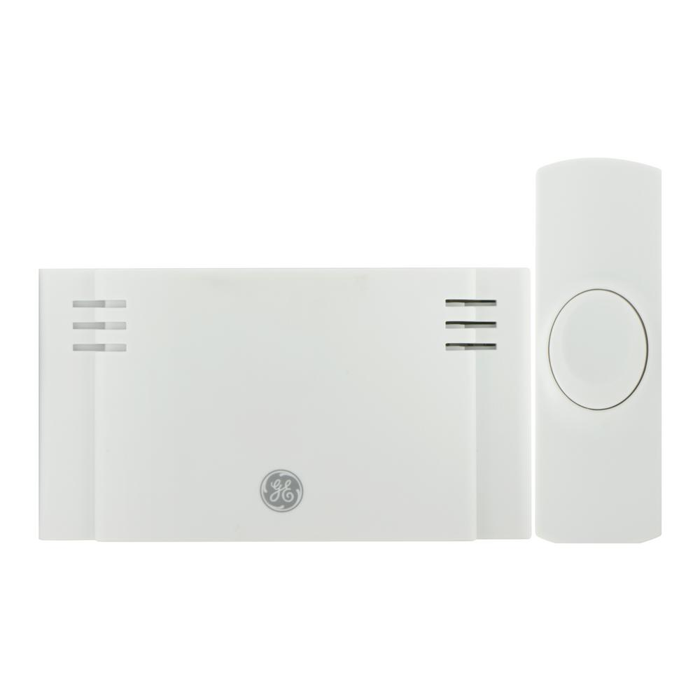 hight resolution of wireless door chime battery operated 2 melody with 1 push button