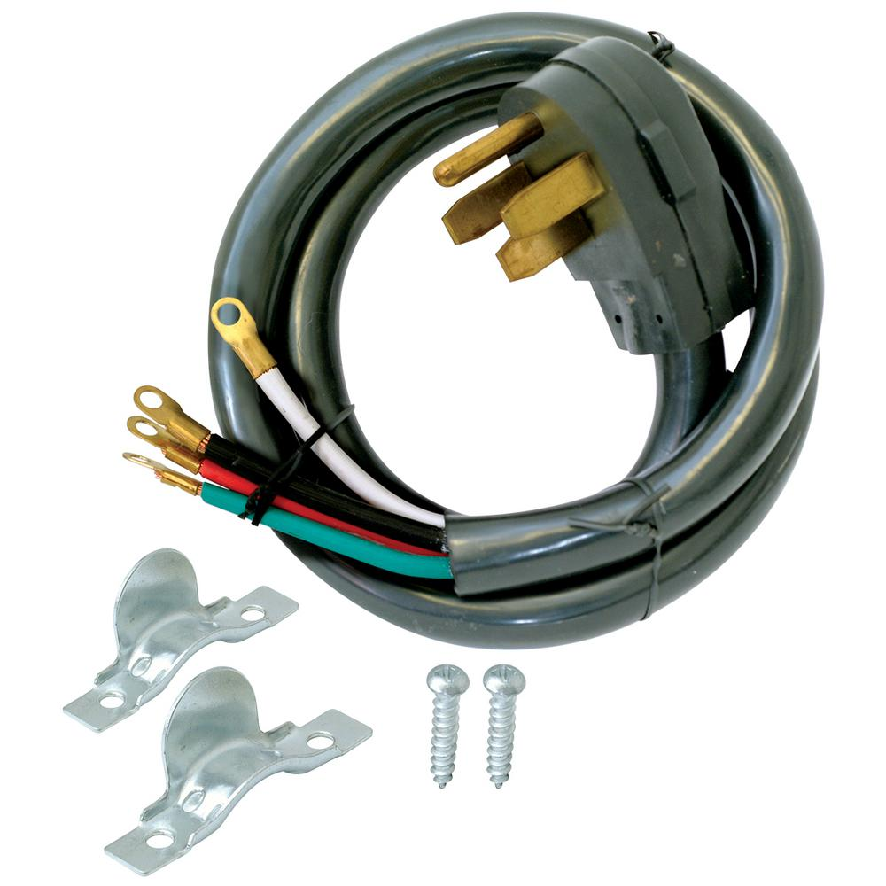 medium resolution of ez flo 10 ft 6 4 4 wire range cord 61248 the home depot 50 amp welder extension cord 4 wire extension cord
