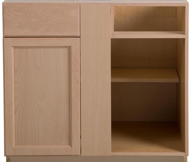 Easthaven Blind Base Corner Cabinet In Unfinished German