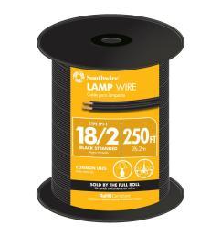 18 2 black stranded cu spt 1 lamp wire [ 1000 x 1000 Pixel ]