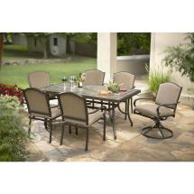 Hampton Bay Castle Rock 7-piece Patio Dining Set With