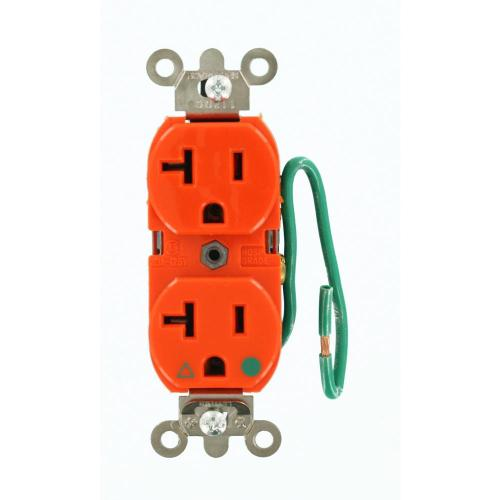 small resolution of leviton 20 amp hospital grade extra heavy duty isolated ground duplex outlet with 6 in