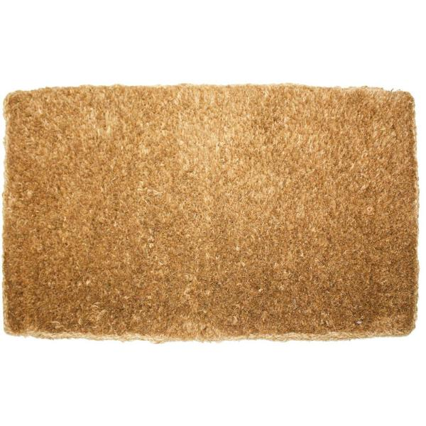 Plain Imperial Coco 18 In. X 30 In. Coir Outdoor Doormat