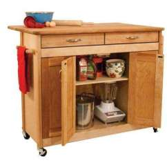 Unfinished Kitchen Cart Cabinet Ikea Wood Carts Islands Utility Tables Dining Natural With Butcher Block Top