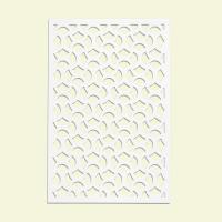 Acurio Latticeworks Casablanca 32 in. x 4 ft. White Vinyl ...