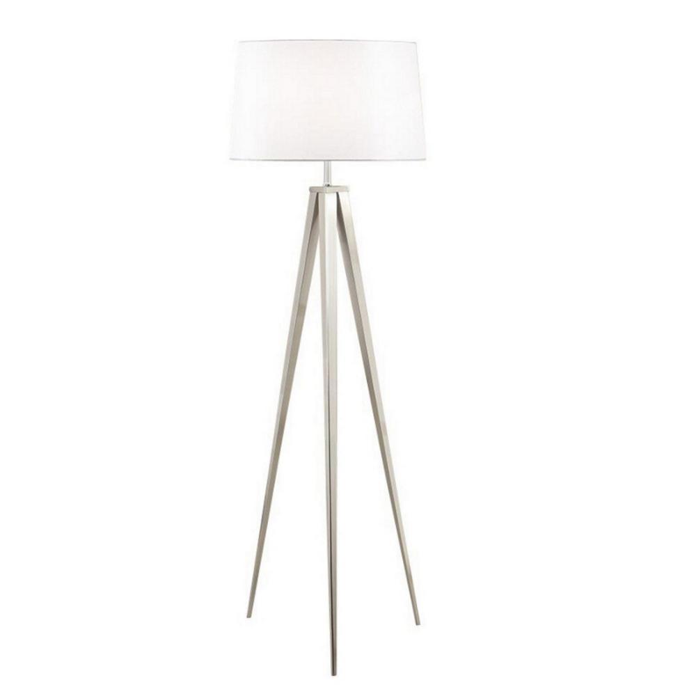 hight resolution of brushed nickel tripod floor lamp