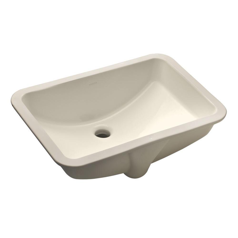 KOHLER Ladena 20 78 Undermount Bathroom Sink in Biscuit