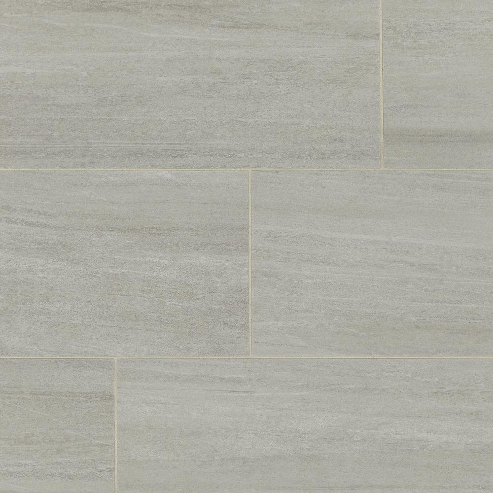 Daltile Nova Falls Gray 12 in. x 24 in. Porcelain Floor