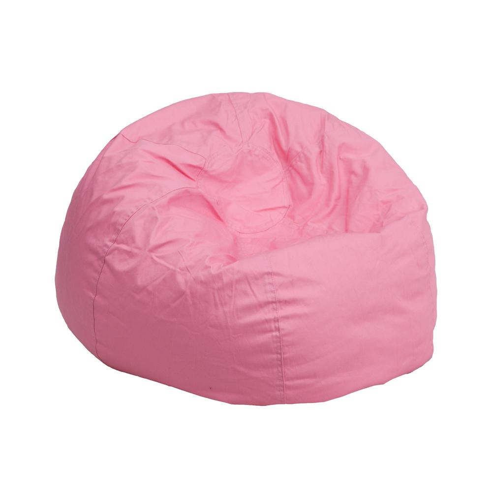 pink kids chair stool protector flash furniture small solid light bean bag dgbeansmsldpk the home depot