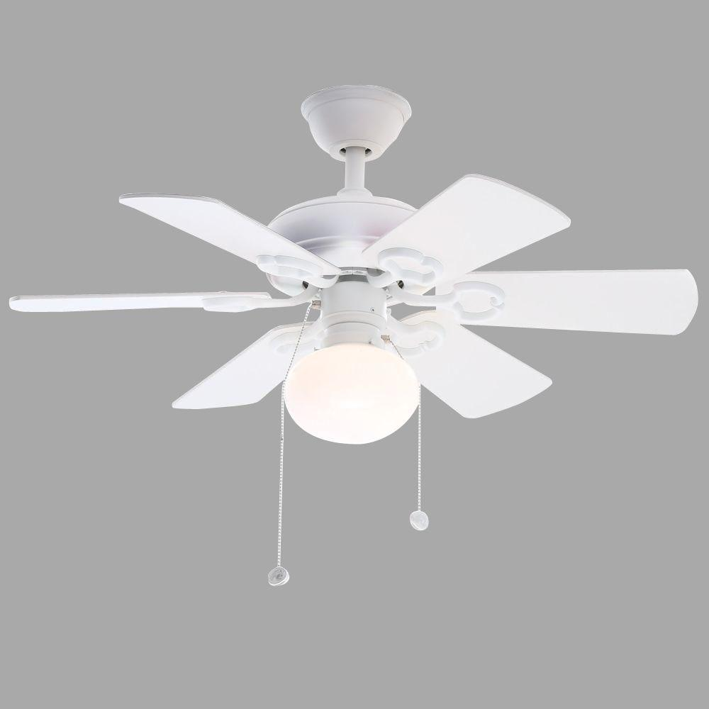 Hampton Bay Minuet III 36 in. Indoor White Ceiling Fan
