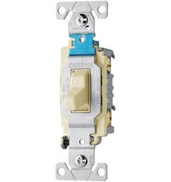 eaton 20 amp 120 277 volt side wire compact toggle switch light almond [ 1000 x 1000 Pixel ]
