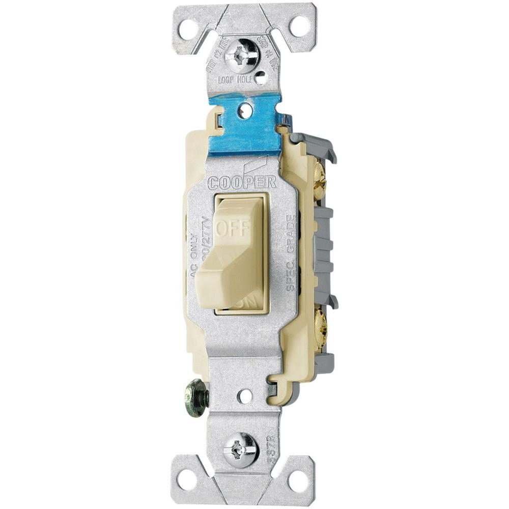 medium resolution of eaton 20 amp 120 277 volt side wire compact toggle switch light almond