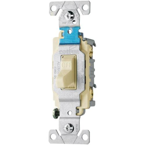 small resolution of eaton 20 amp 120 277 volt side wire compact toggle switch light almond