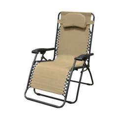 Recliner Lawn Chairs Folding Beautiful Chair Cover Hire Oxfordshire Reclining Patio The Home Depot Infinity Oversized Beige Metal Zero Gravity