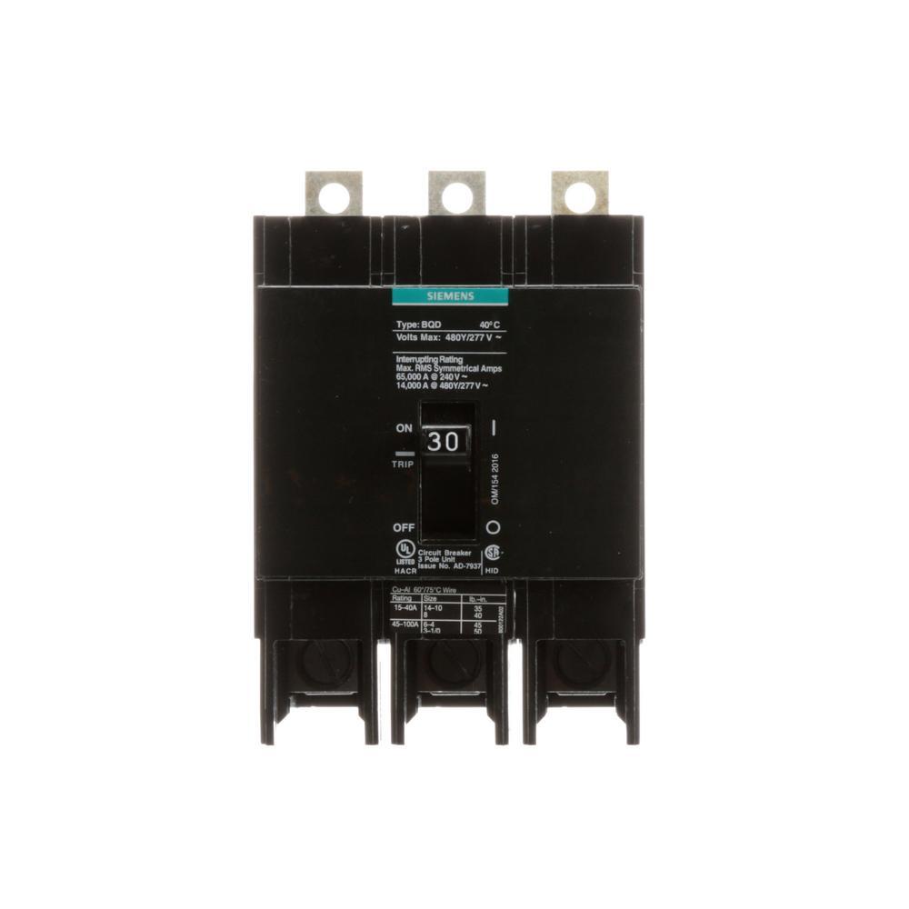 hight resolution of 30 amp triple pole type bqd bolt on circuit breaker