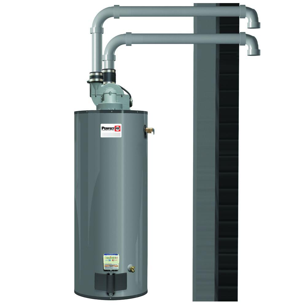 Perfect Fit 50 Gal 3Year 65000 BTU Low NOx Natural Gas Powered Direct Vent Water Heater