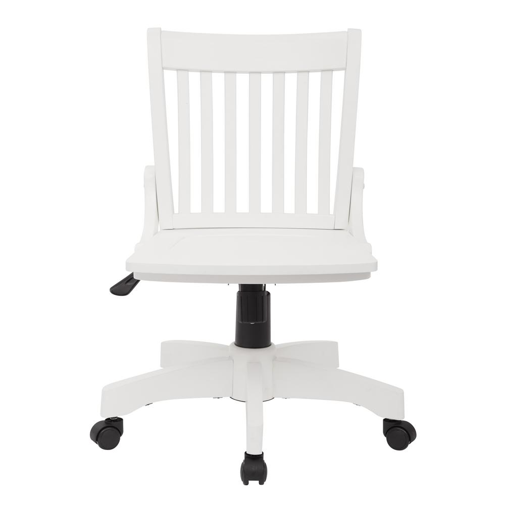 white wooden chair for desk covers hire newcastle ospdesigns deluxe wood bankers 101wht the home depot