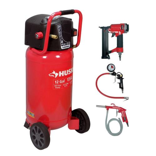 small resolution of portable electric air compressor and 2 in 1 brad nailer