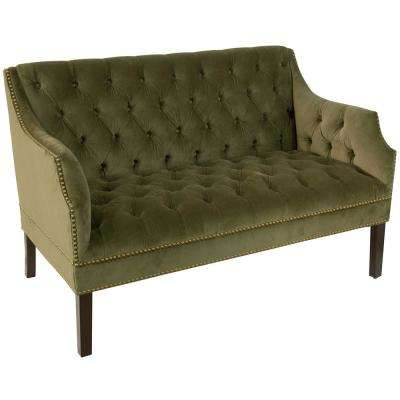 moss studio sofa reviews contemporary sectional and ottoman set black cotton wood mid century modern sofas loveseats living room regal diamond tufted nail button settee