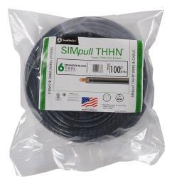 6 black stranded cu simpull thhn wire [ 1000 x 1000 Pixel ]