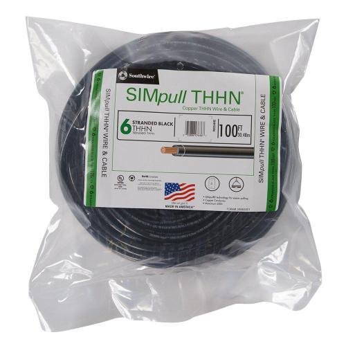 small resolution of 6 black stranded cu simpull thhn wire