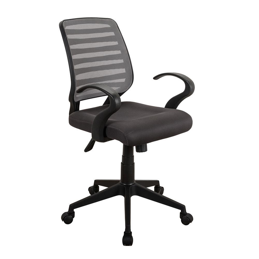 Techni Mobili Gray Comfortable Rolling Height Adjustable Mesh Task ChairRTA2920GRY  The Home