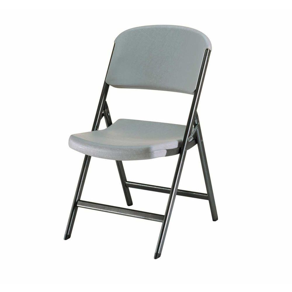 high folding chair ikea pello lifetime putty set of 4 80186 the home depot