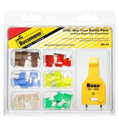 atm 42 piece automotive mini blade fuse kit with fuse tester puller [ 1000 x 1000 Pixel ]
