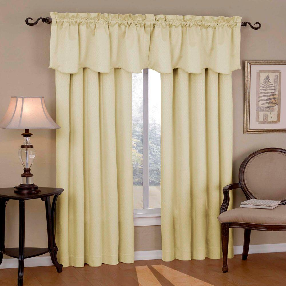 Eclipse Blackout Canova Blackout Ivory Curtain Panel 95
