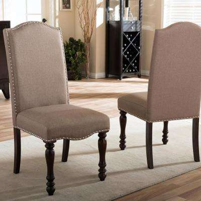 beige dining chairs power wheelchair accessories bags faux leather kitchen room zachary fabric upholstered set of 2
