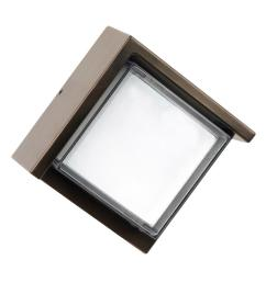 7 5 watt bronze outdoor integrated led wall pack light with low profile [ 1000 x 1000 Pixel ]