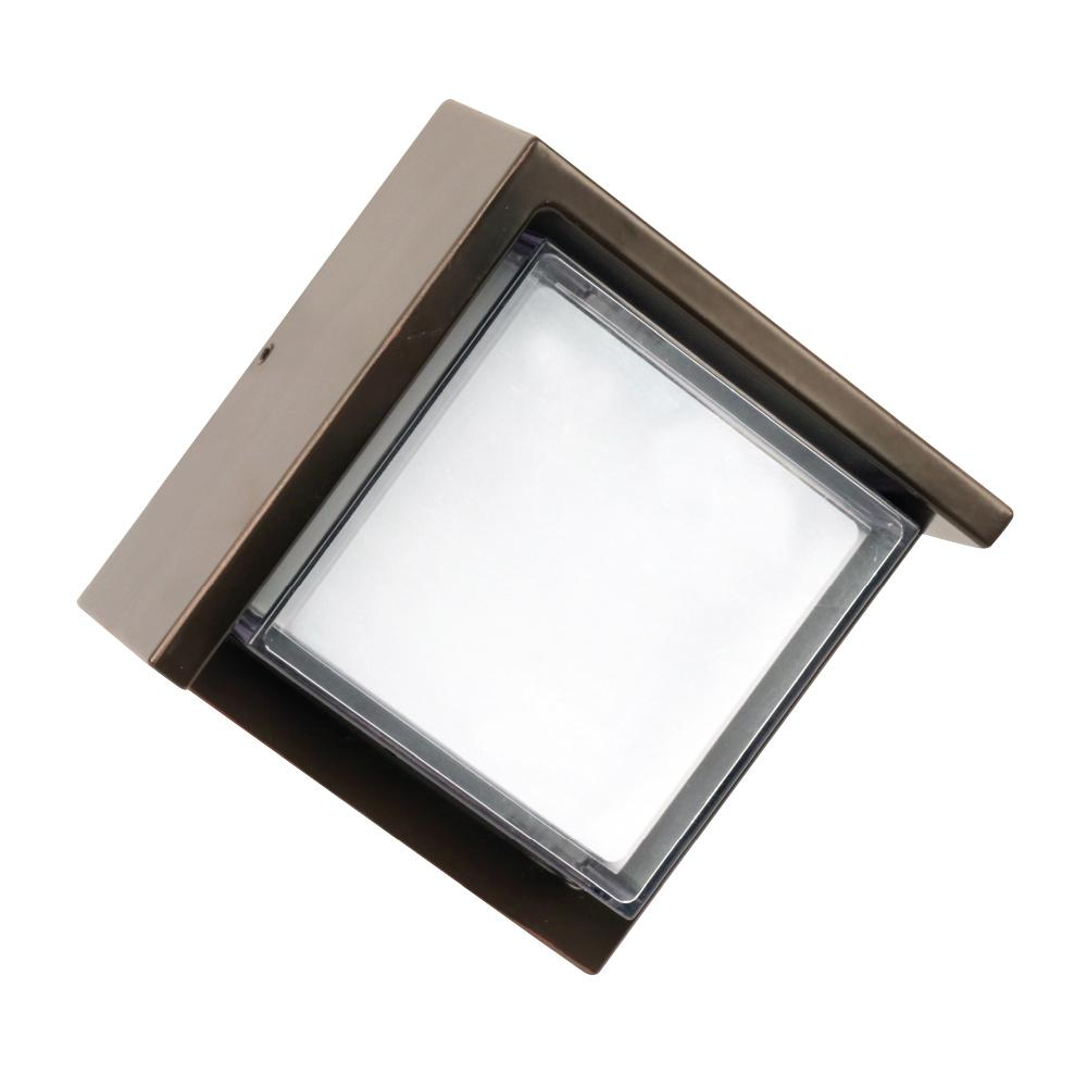 medium resolution of 7 5 watt bronze outdoor integrated led wall pack light with low profile