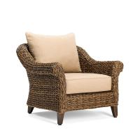 BLUE OAK Bahamas Wicker Outdoor Lounge Chair with ...