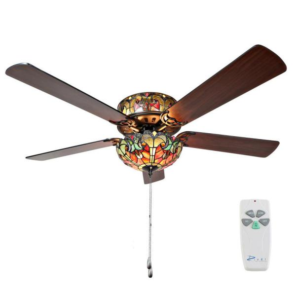 Stained Glass Ceiling Fans with Lights