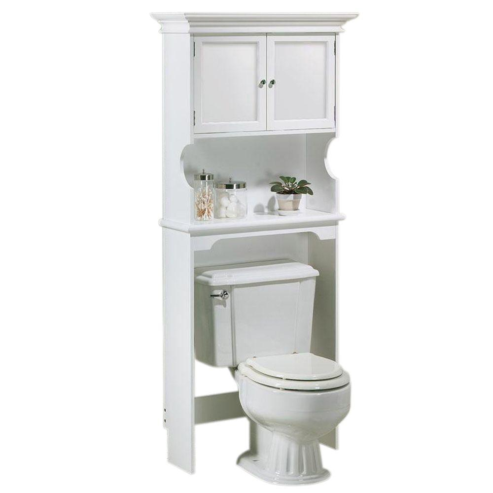 Bathroom Toilet Cabinets Hampton Harbor 30 In W Space Saver In White