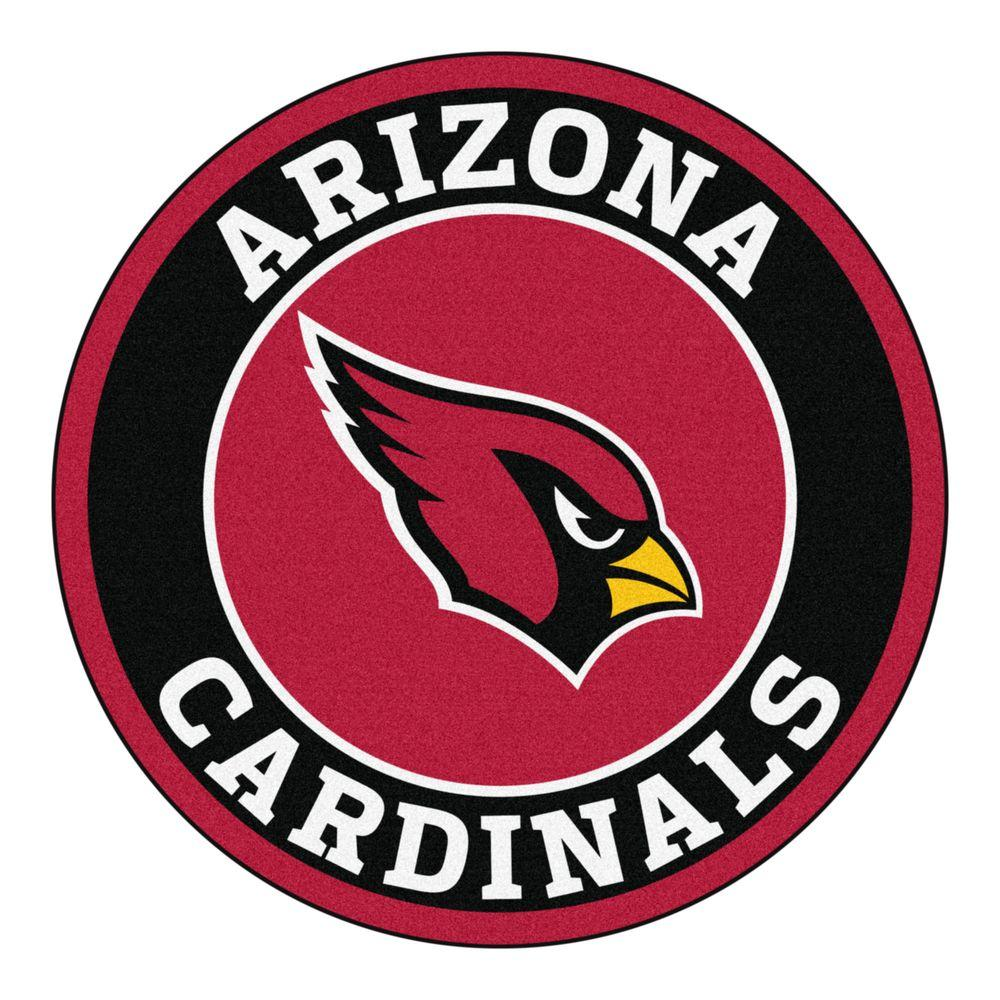 FANMATS NFL Arizona Cardinals Black 2 Ft Round Area Rug