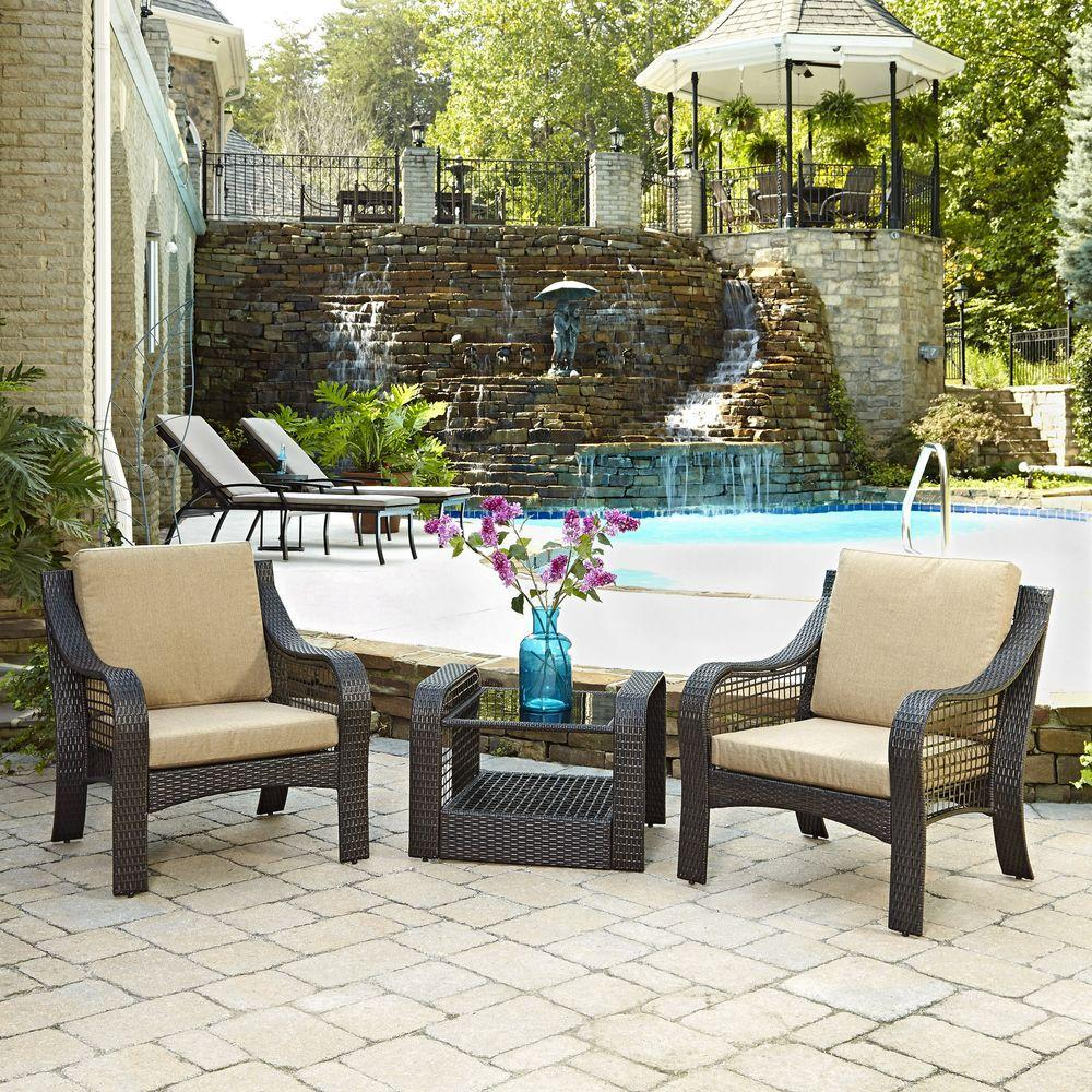 2 accent chairs and table set x rocker game chair home styles lanai breeze deep brown piece woven patio end