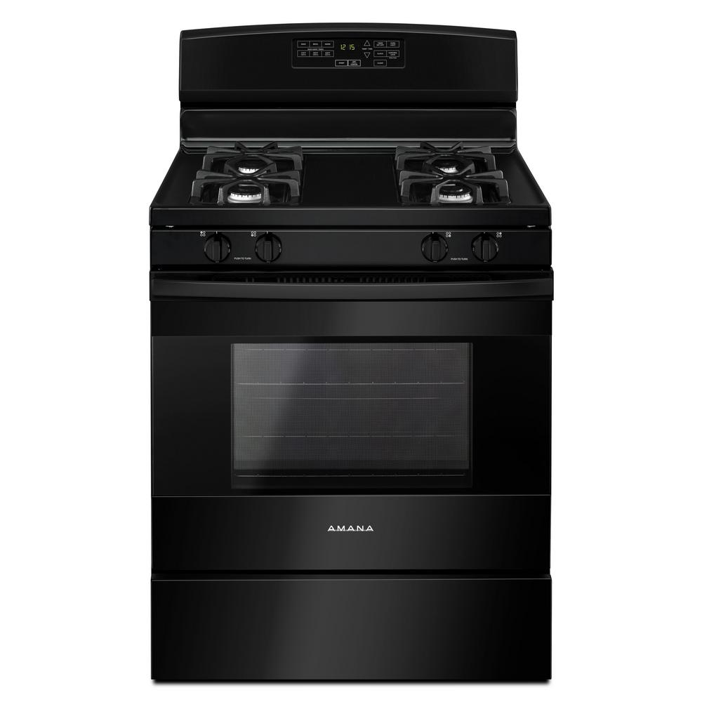 hight resolution of amana 5 0 cu ft gas range in black