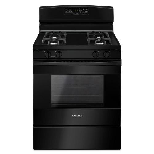 small resolution of amana 5 0 cu ft gas range in black